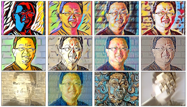 Grid of Artistic Style Transfer Results